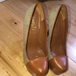 """Authentic """"YSL"""" shoes in mint condition worn once"""
